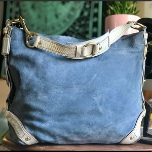 ⬇️ Carley Hobo in Blue Suede/Leather!